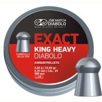 Пуля пневматическая JSB Diabolo Exact King.25 Heavy, кал. 6,35мм, гладкая, 33,91..