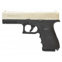 Оружие списанное, охолощенный пистолет G19C, (Glok 19), Сатин, кал. 9mm. P.A.K..