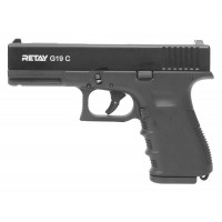 Оружие списанное, охолощенный пистолет G19C, (Glok 19), черный, кал. 9mm. P.A.K..