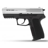Оружие списанное, охолощенный пистолет S2022, (Sig Sauer), Никель, кал. 9mm. P.A..