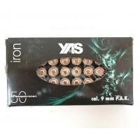 Патрон холостой (светозвукового действия)  9 мм P.A.K. Iron Blank (YAS) 50 штук..