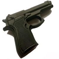 Макет тренировочного пистолета Beretta 92FS резиновый (черный)..