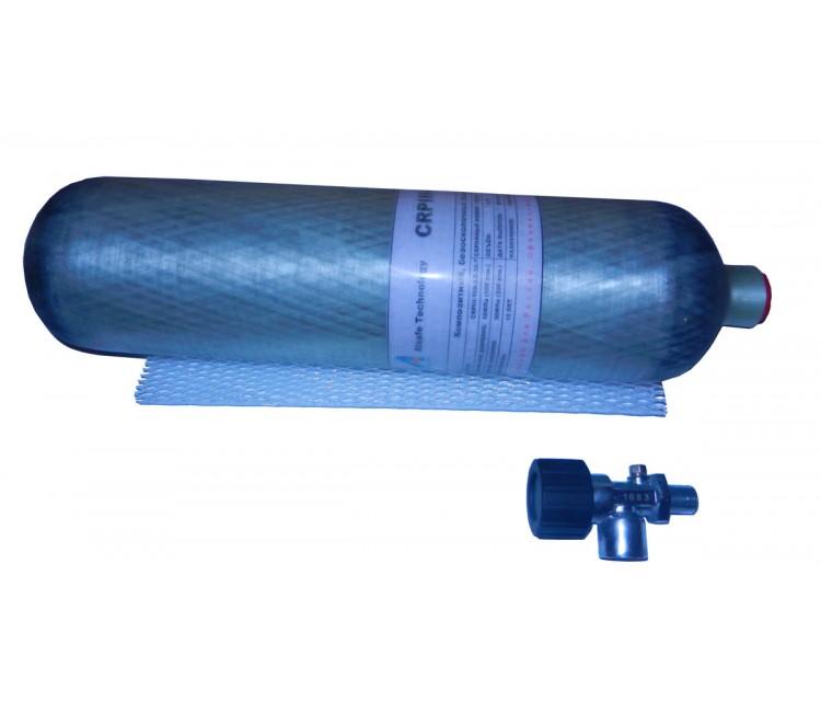 Баллон ВД металлокомпозитный 2.5л., вентиль с предохранителем для РСР винтовок