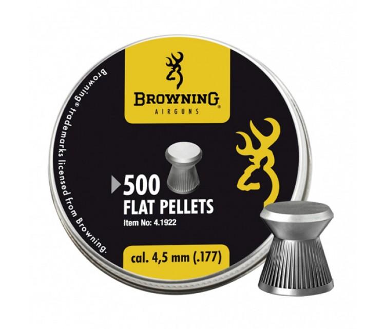 Пуля пневматическая Browning, 4,5мм. плоская головка (500шт)