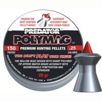 Пуля пневматическая JSB Predator Polymag,  6,35мм (25 ), 1,685гр., 25,39gr  (150..